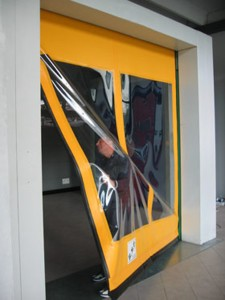 high speed door self repairing